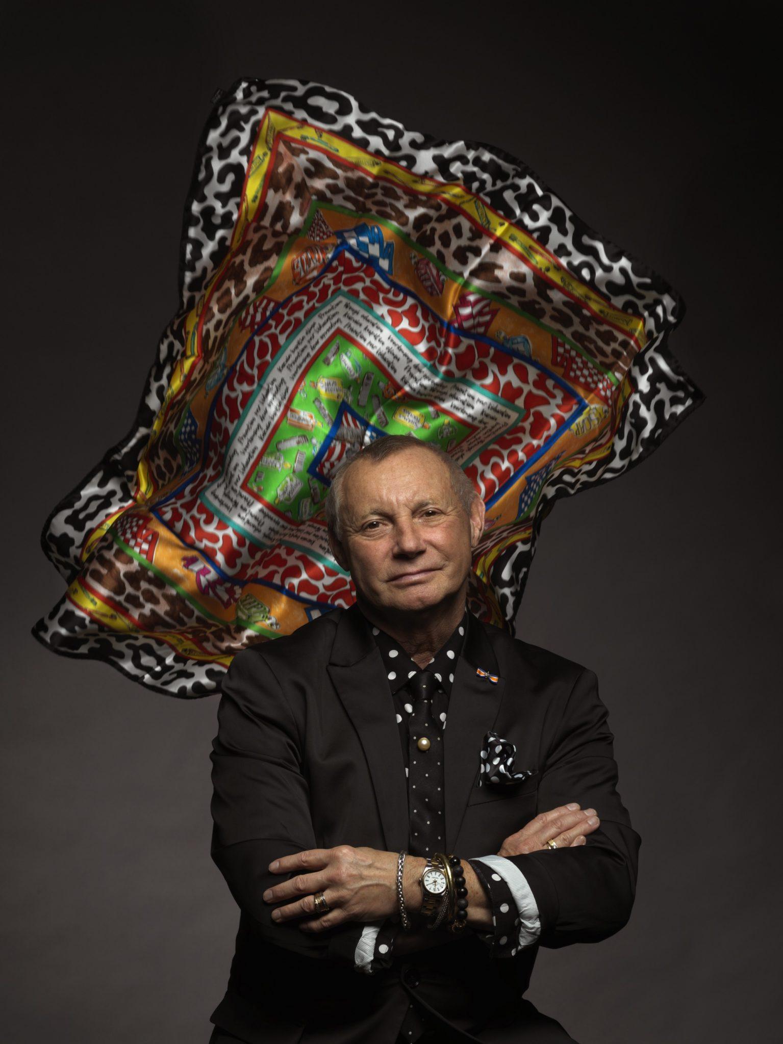 Ronald Kolk maakte special voor Health Promoters een speciale shawl